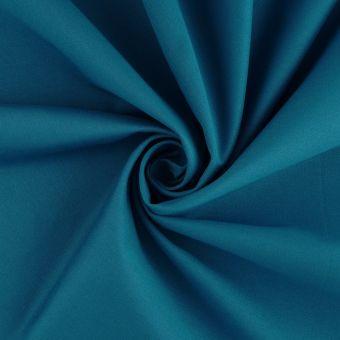 Tissu coton épais traité anti-poussière bleu canard