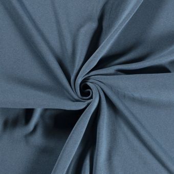 Tissu molleton sweat coton bio et recyclé bleu
