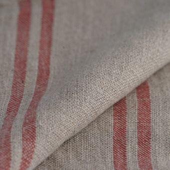 Tissu pour torchon lin lavé rouge