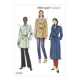 Patron manteau femme VOGUE 9367