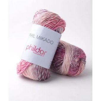 Fil à tricoter Mikado Pétunia