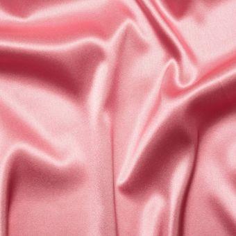 Tissu satin de soie vieux rose uni fait en Italie