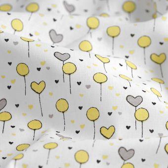 Tissu cretonne ballons de baudruche