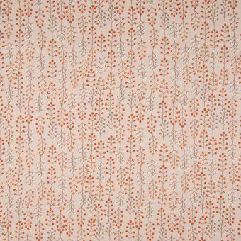 Tissu popeline coton bio rose eucalyptus