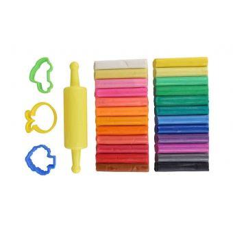 Kit pâte à modeler enfant 24 couleurs 4 accessoires