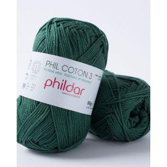 Pelote de coton à tricoter Phildar 3 cédre