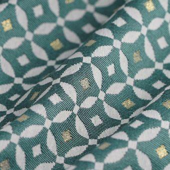Tissu jacquard Diamond vert