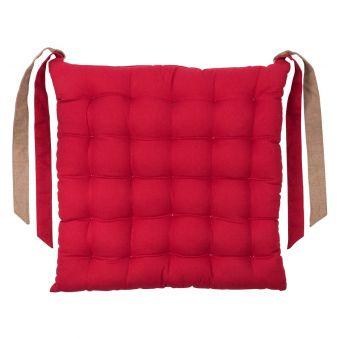 Galette de chaise Essentiel rouge