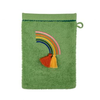 Gant de toilette Savane vert