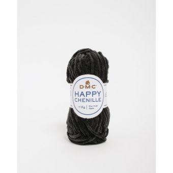 Pelote Happy chenille noir 22