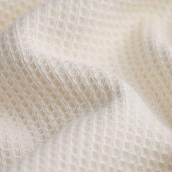 Tissu éponge nid d'abeille Marbella écru