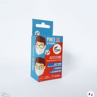 Pince anti buée pour masque en tissu - à coudre