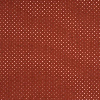 Tissu popeline coton à motifs mini pois terracotta