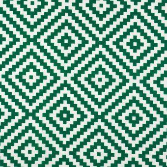 Tissu toile extérieure imprimé géométrique verte