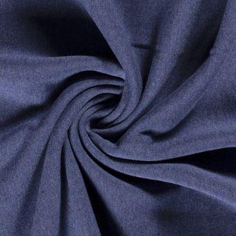 Tissu molleton sweat coton bio et recyclé bleu jean