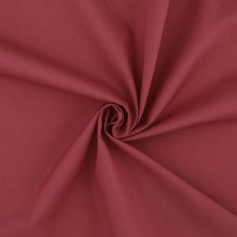 Tissu popeline coton unie brique