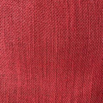 Toile de jute colorée unie rouge
