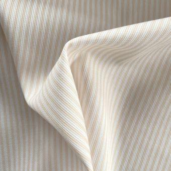 Tissu piqué de coton motifs rayures jaune