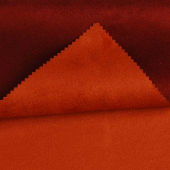 Tissu suédine double face Alaska orange