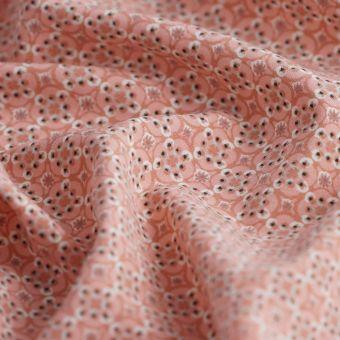 Tissu satin géométrique rose