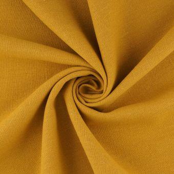 Tissu lin lavé Libeccio ocre grande largeur