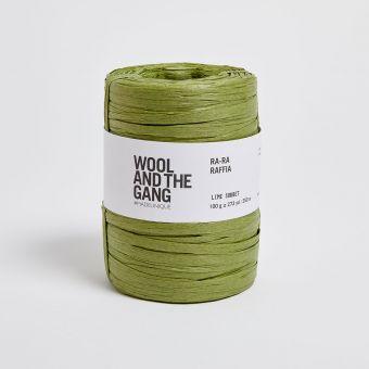 Fil à crocheter Ra Ra Raffia grass green - Wool and the Gang