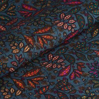 Tissu coton épais Kerala bleu