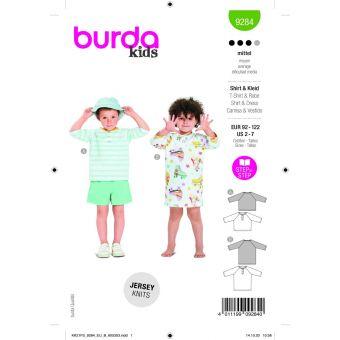 Patron Burda 9284 t-shirt & robe de 2 à 7 ans