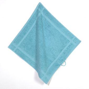 Torchon éponge uni bleu turquoise