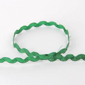 Ruban serpentine métallisé vert 10 mm