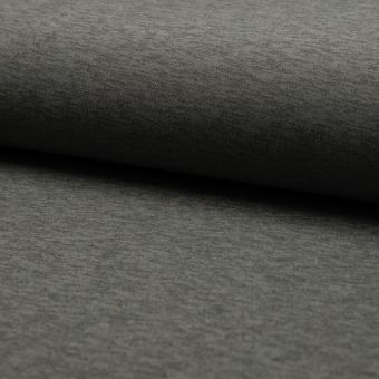 Tissu néoprène uni chiné gris foncé