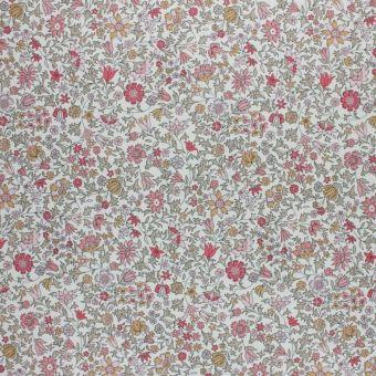 Tissu chambray Liberty petites fleurs roses