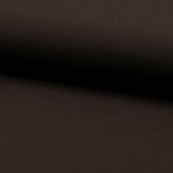 Tissu lainage fin extensible uni marron foncé