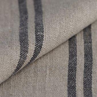 Tissu pour torchon lin lavé noir
