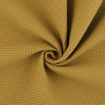 Tissu éponge nid d'abeille noisette