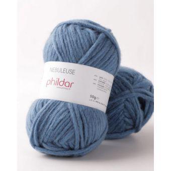 Pelote de fil à tricoter Phildar nébuleuse navy
