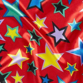 Tissu satin carnaval étoiles