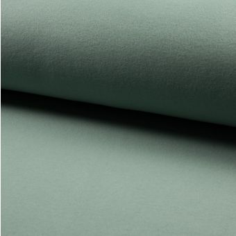 Tissu polaire coton bio vert jade