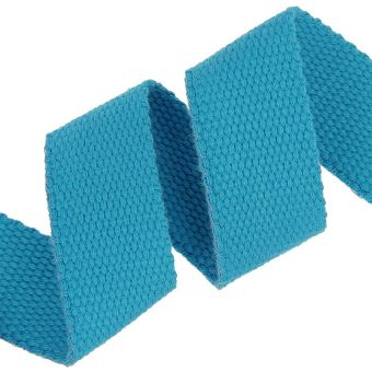 Sangle coton renforcée turquoise 30mm