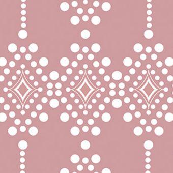 Tissu coton losange rose