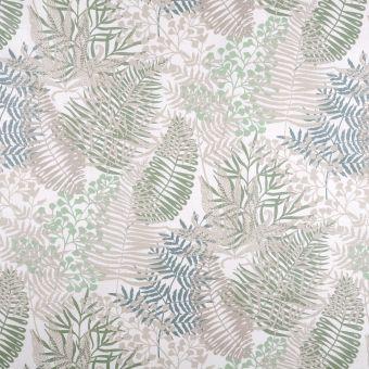 Toile de ramie enduite feuillage vert