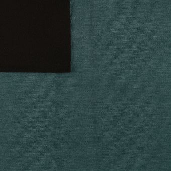 Tissu velours doublé micro polaire bleu canard