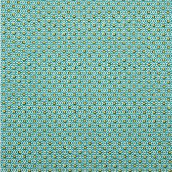 Maille jersey bio géométrie vert
