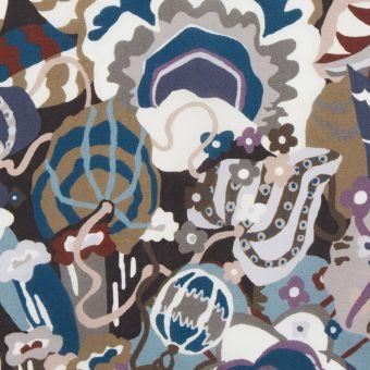 Tissu popeline de coton liberty gatsby garden bleu