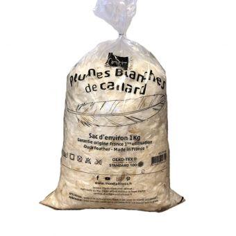 Plumes blanches de canard 1kg