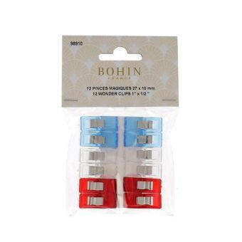 Pinces à tissus Bohin - 27 x 10 mm