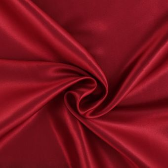 Tissu satin Lala rouge bordeaux