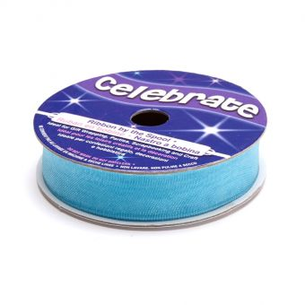 Bobine ruban organza Bleu