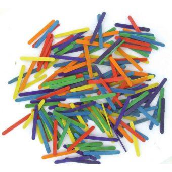 Bâtonnets en bois multicolore 0,6 x 5,5 cm 200 pièces