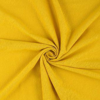 Tissu jersey chanvre moutarde
